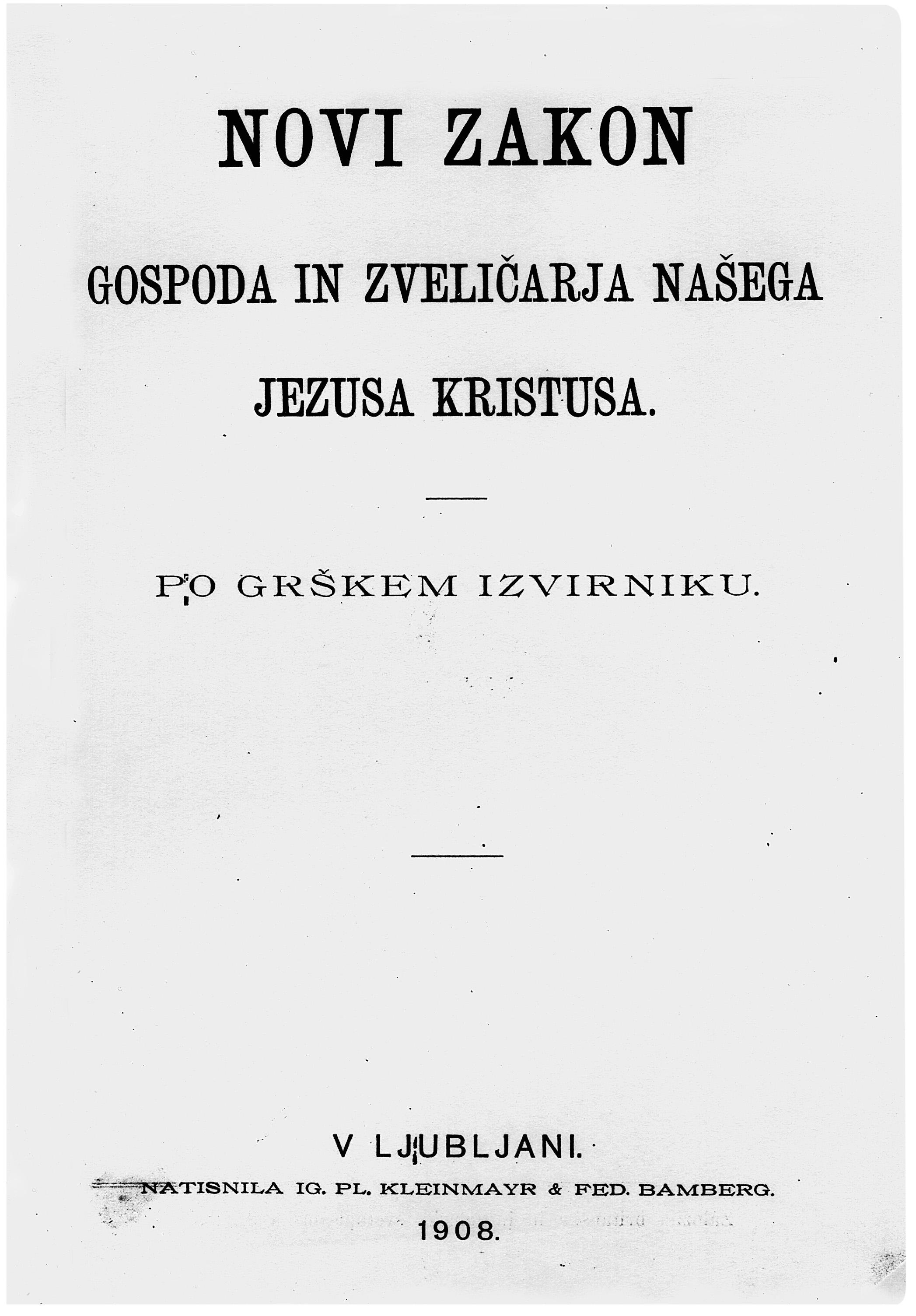 Chráskov Novi zakon, 1908